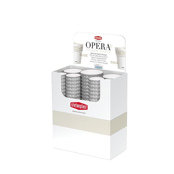 Espositore Vasi Opera ORFEO terra d'ombra