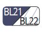 BL21/BL22 - Navy blue/Transaprent blue navy