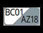 BC01/AZ18 - White/Steel blue