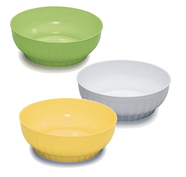 Ribbed salad-bowls ø cm 34